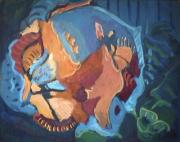 Oiseau - 1982 Acrylique sur masonite 51cm X 41cm Louis Fortier