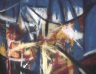 Berceau - 1987-1990 Aérosol sur masonite 153cm X 122cm Louis Fortier