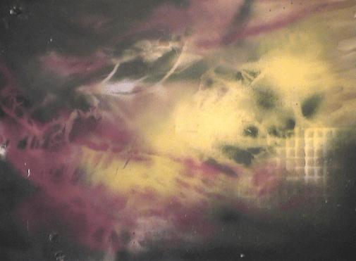 Chimère - 1987-1990 Aérosol sur plastique 75cm X 67cm Louis Fortier