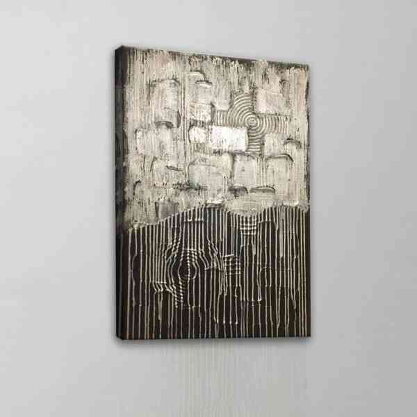 Silver Drip Painting
