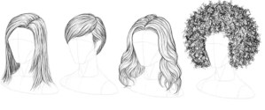 how to draw hair realistically