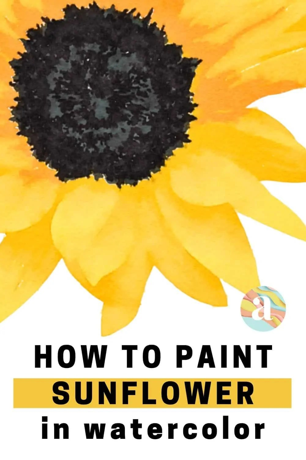 how to paint sunflower in watercolor