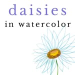 how to paint daisies in watercolor