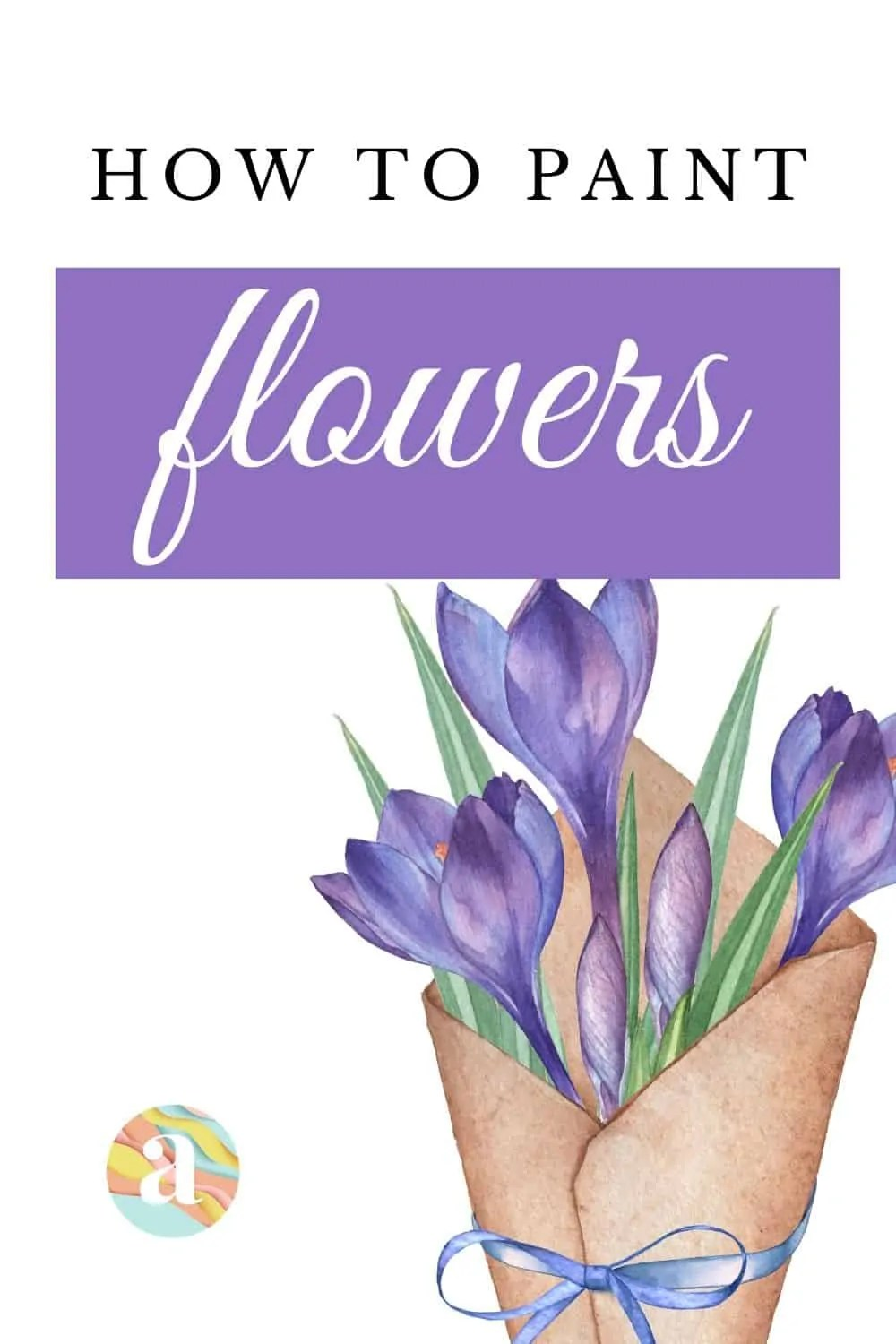 How to paint watercolor flowers 29