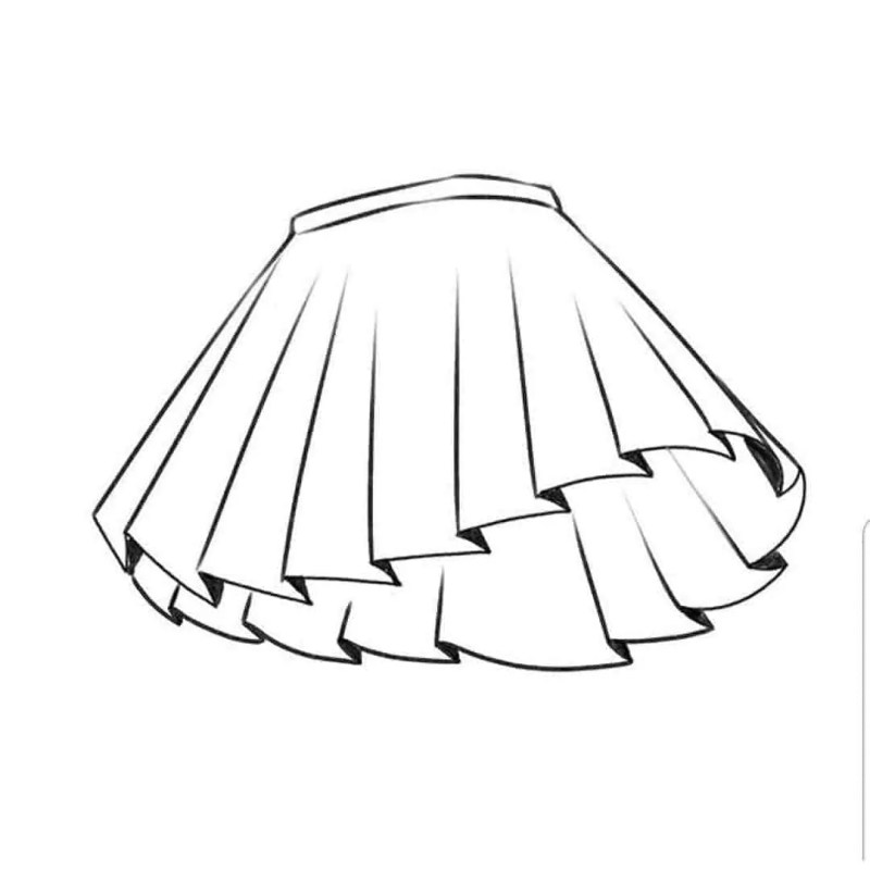 How to draw a skirt 6