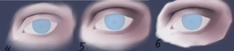 How to draw semi-realistic eyes 3