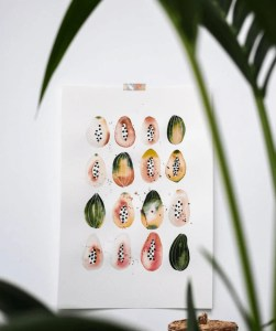 watercolor painting papaya