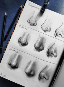 nose drawing easy