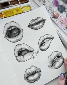 lips drawing