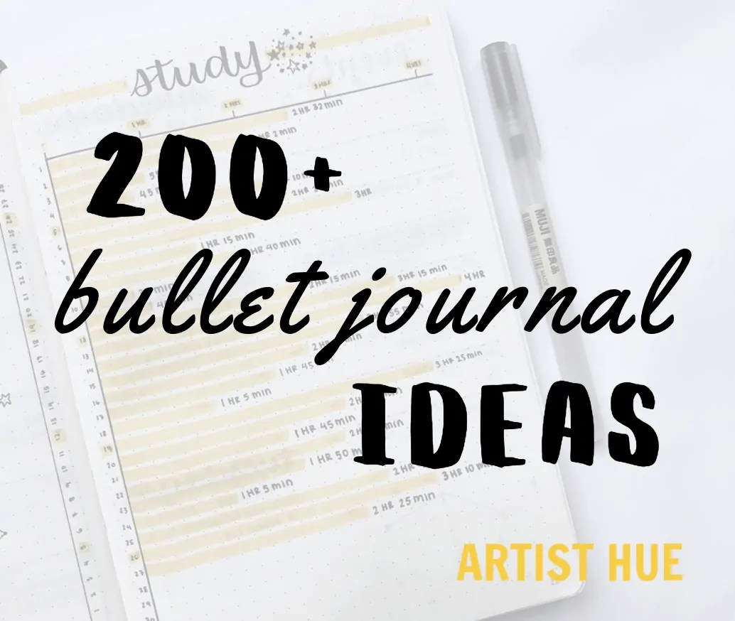 200+ bullet journal ideas 5