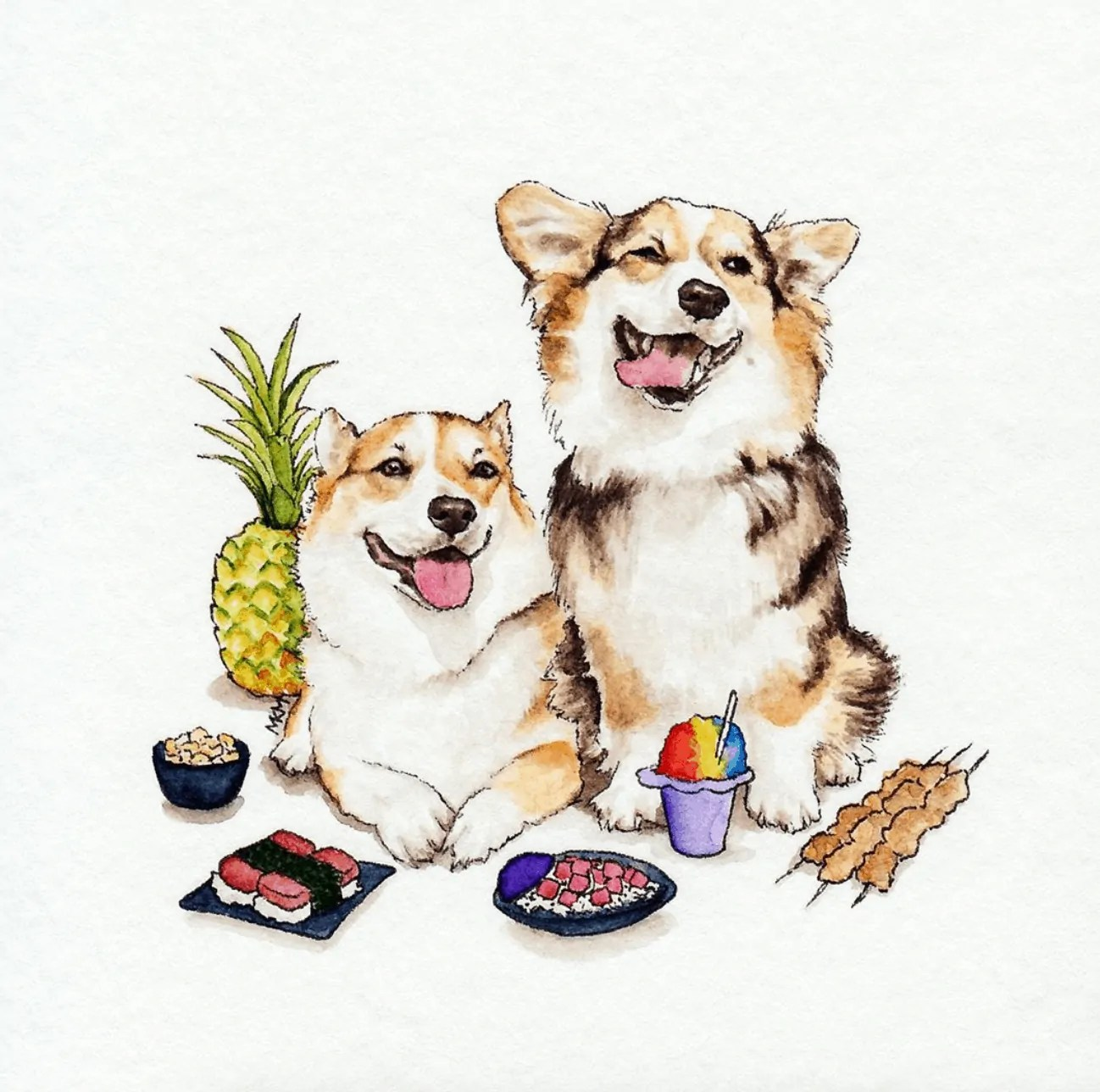 Watercolor Painting Dogs