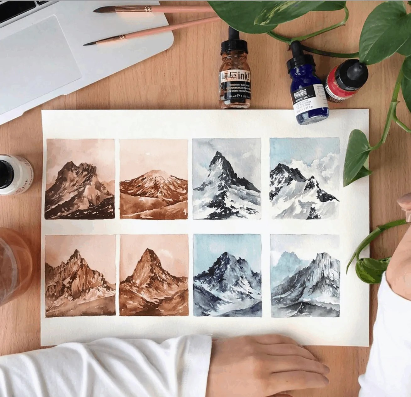 Watercolor Mountain