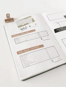 bullet journal expense tracker