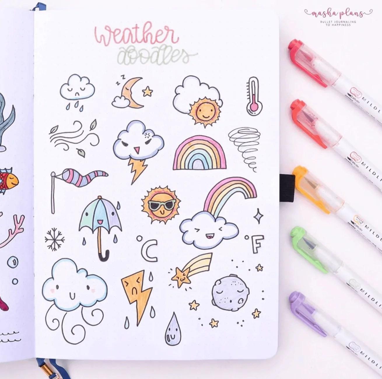 Doodle Ideas for Bullet Journal