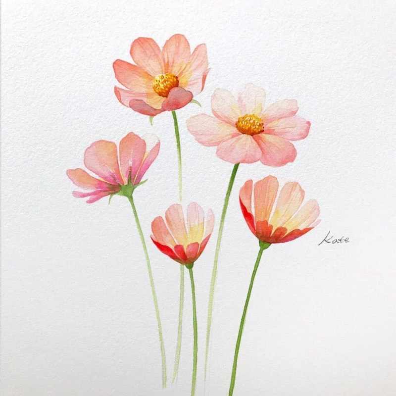 How to draw flowers for beginners? 83