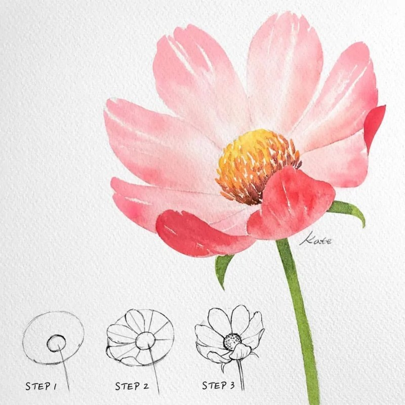 How to draw flowers for beginners? 71