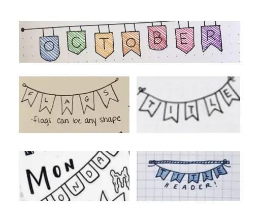 banner fonts bullet Journal