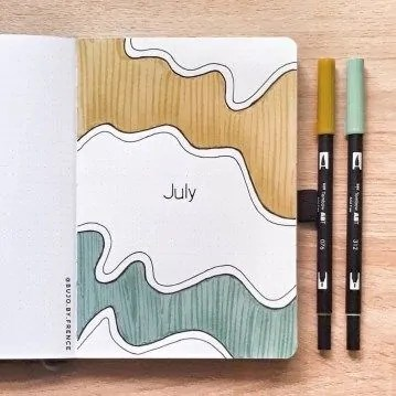 41 Bullet Journal Monthly Cover Ideas You Must Try - Its Claudia G 5