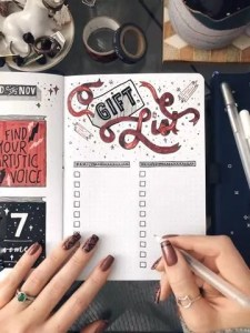 Holiday Bullet Journal Spread 5