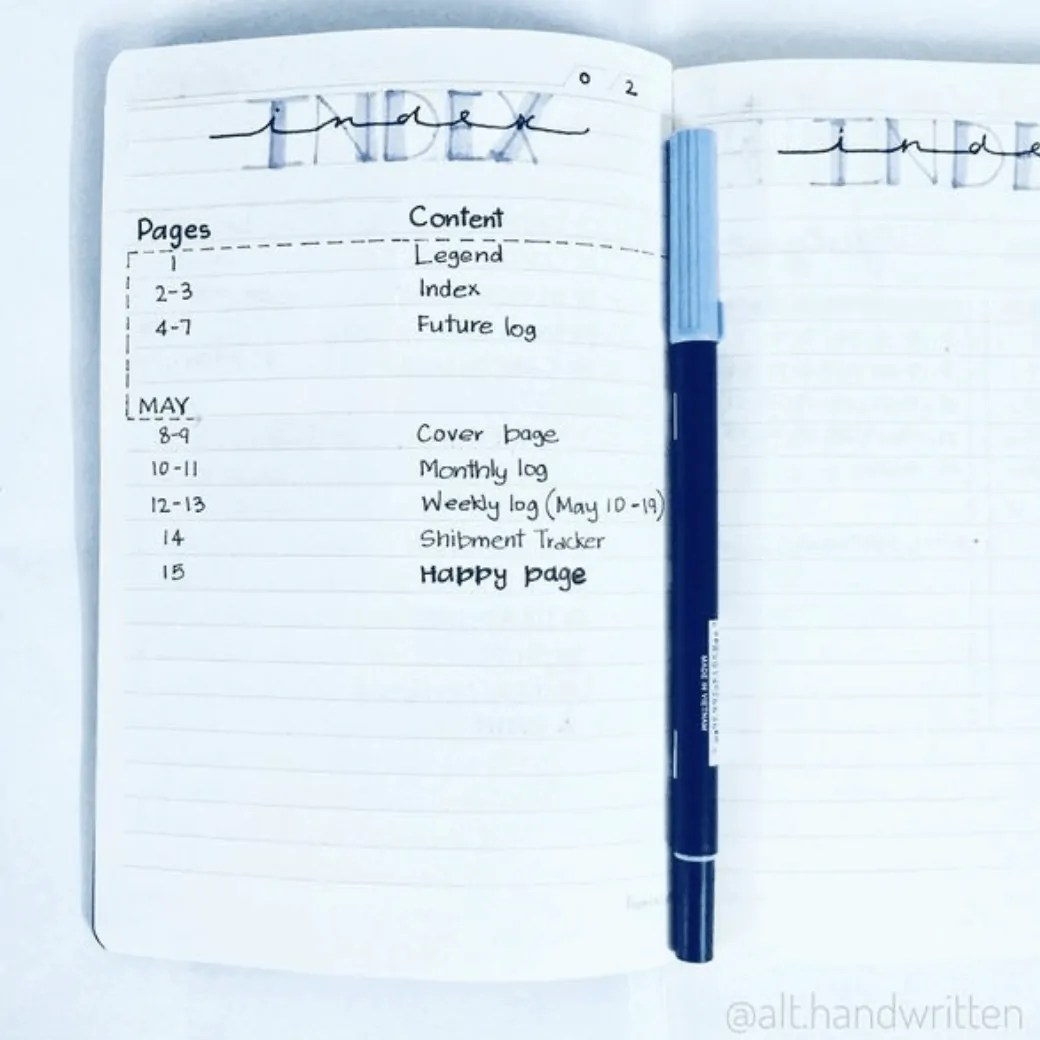 Bullet Journal Index: the Ultimate Guide 16