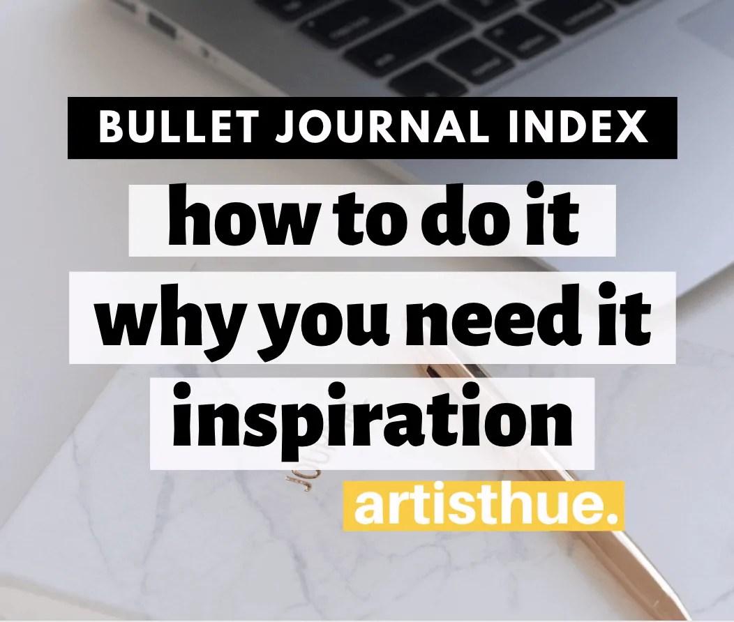 Bullet Journal Index Inspiration