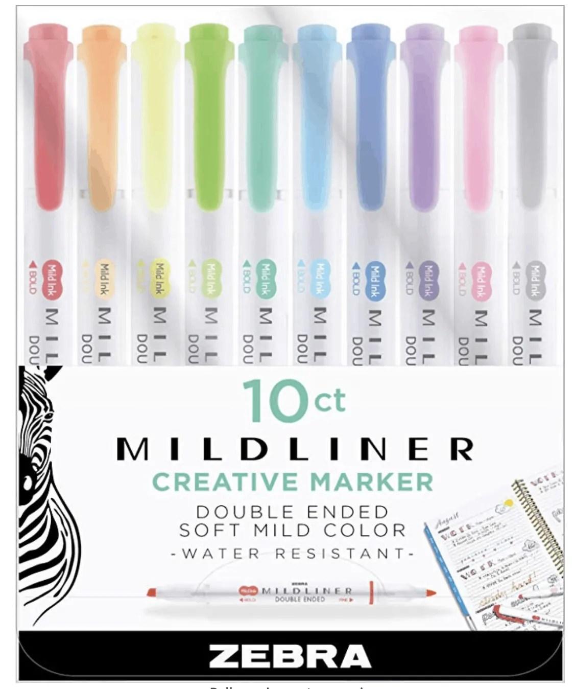 Zebra Mid-Liner Highlighters