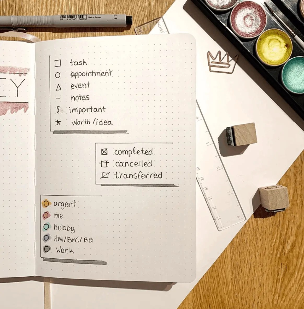 Bullet Journal Key: How to set it up + Ideas 22