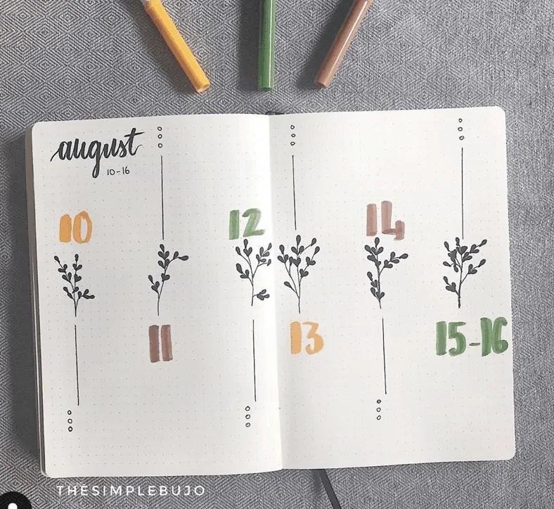 weekly spread ideas