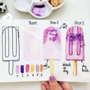 How to draw a ice cream?