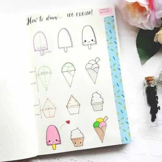 How to draw ice cream?