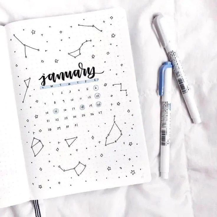 BUJO monthly