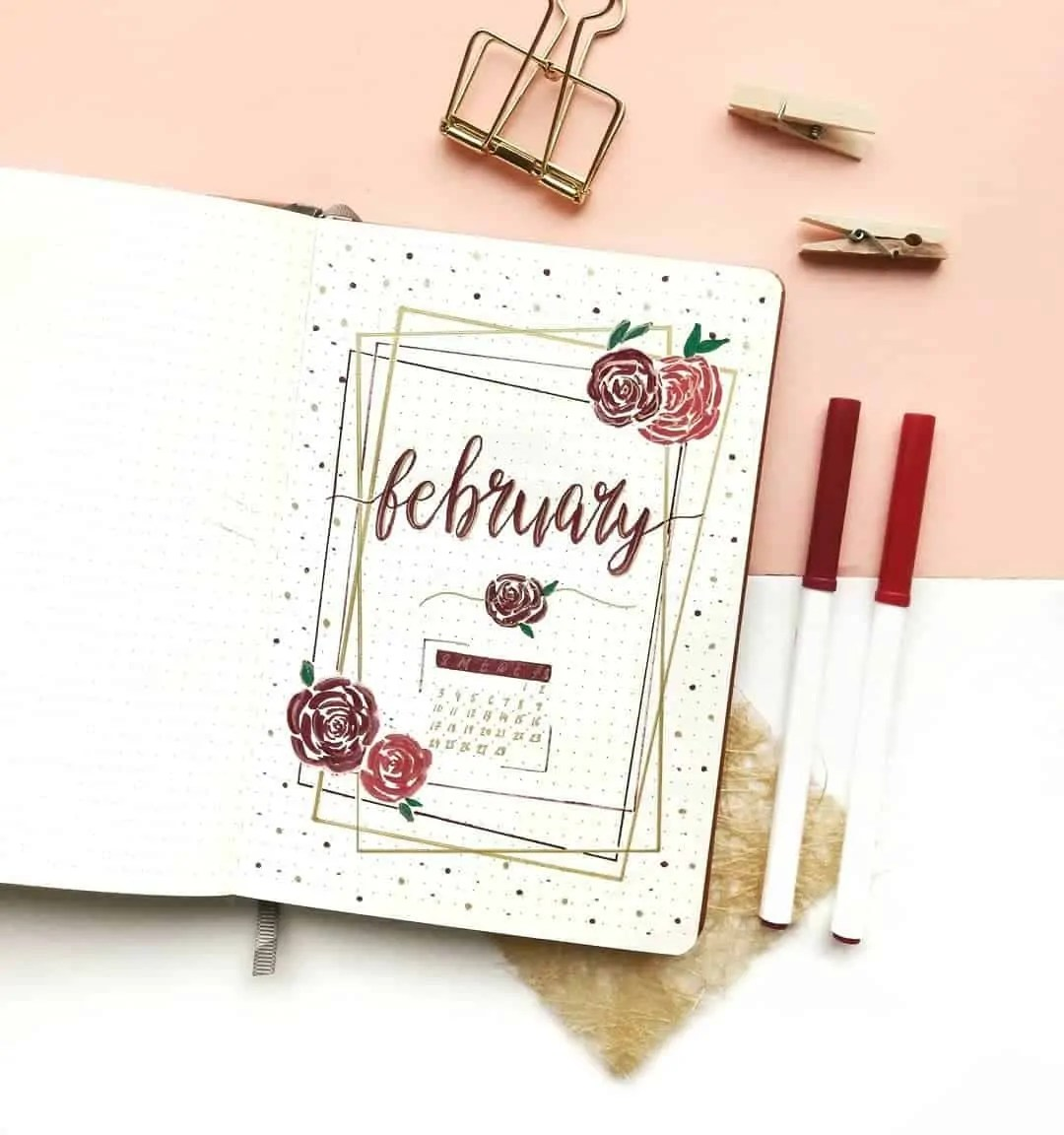 February Bujo Cover