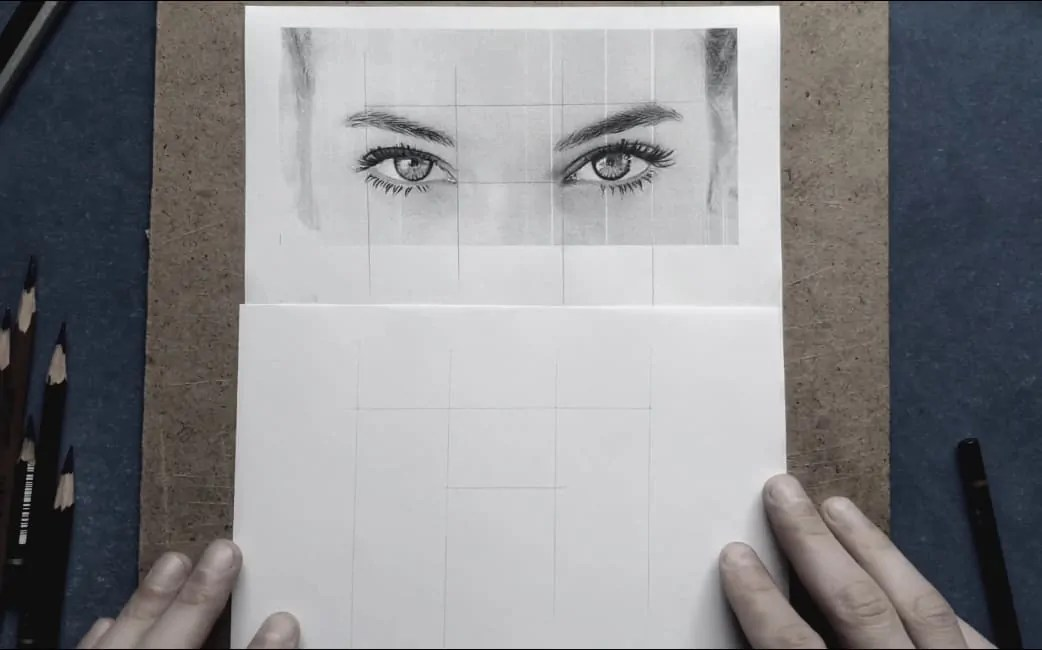 step 1 realistic eyes