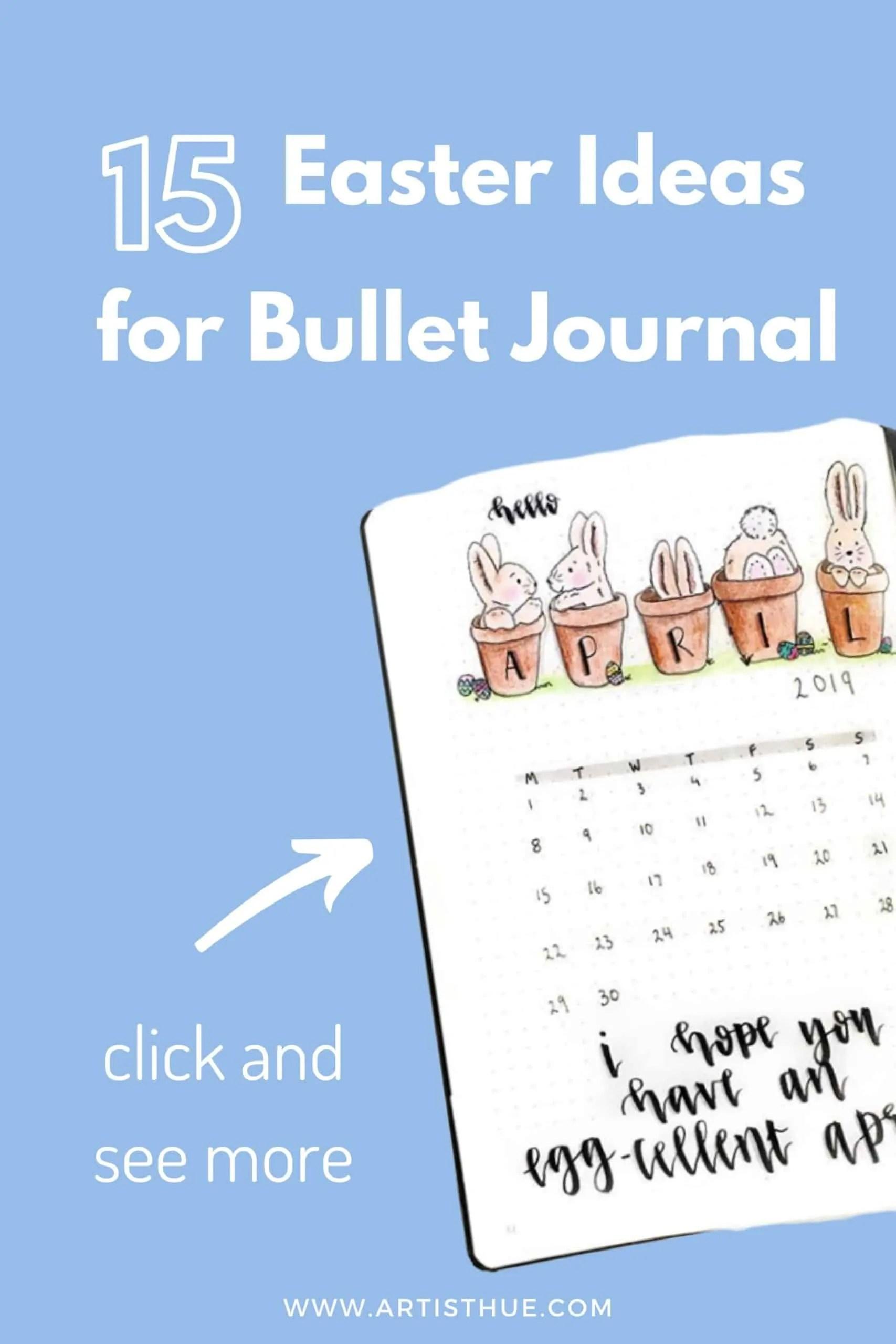 15 Easter Theme Ideas for Bullet Journal 11