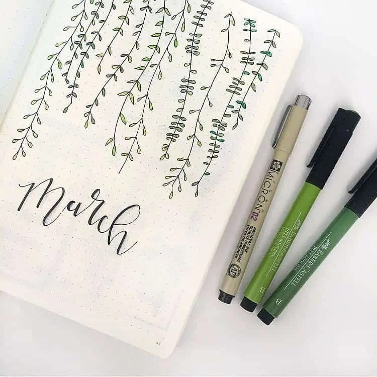 March Bullet Journal Monthly Ideas 11