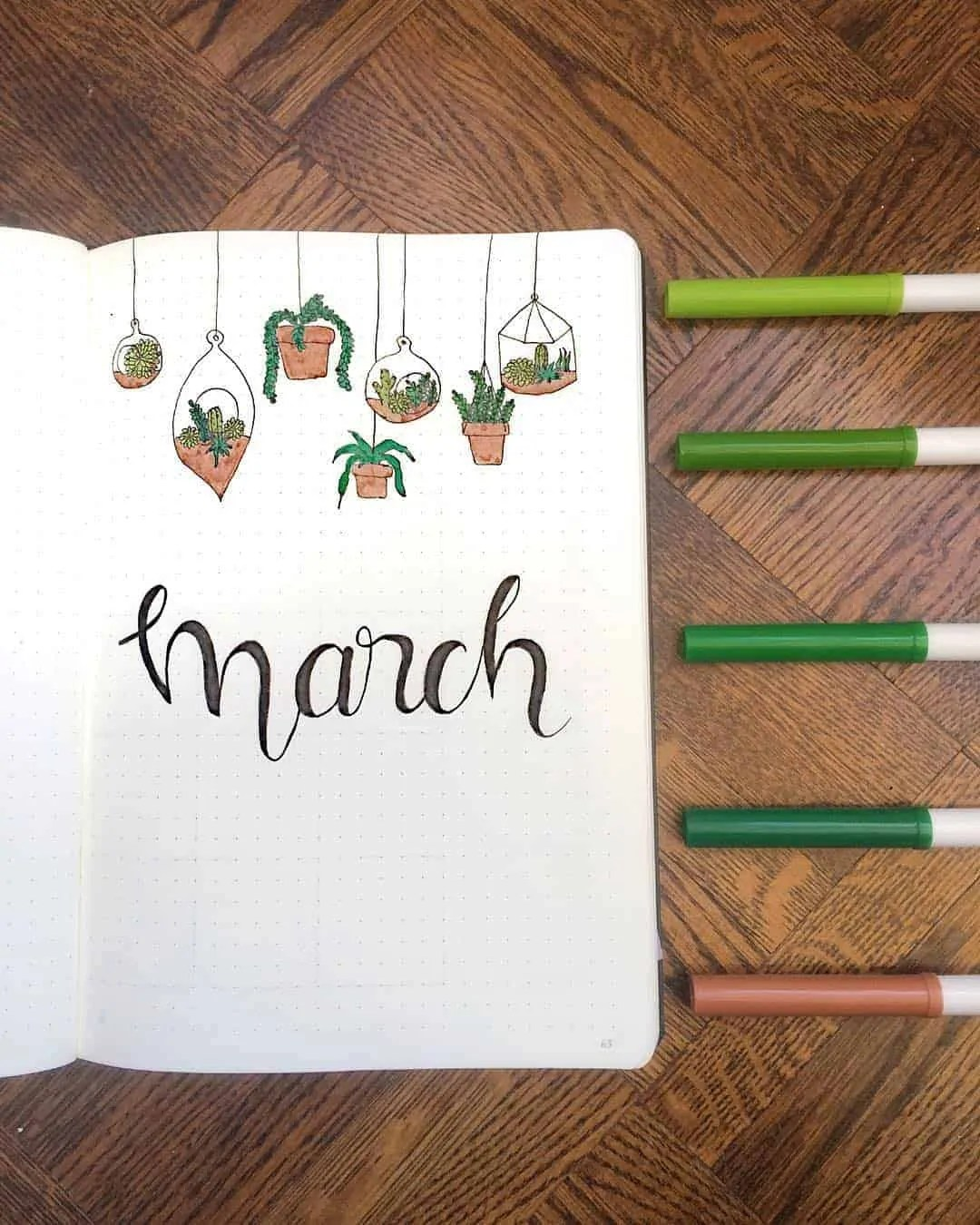 March Bullet Journal Monthly Ideas 13