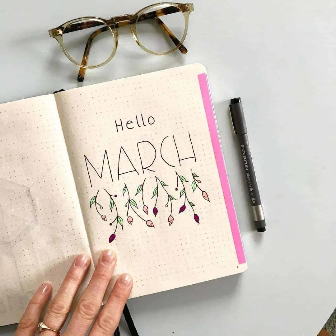 March Bullet Journal Monthly Ideas 15