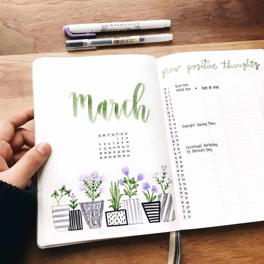 March Bullet Journal Monthly Ideas 19