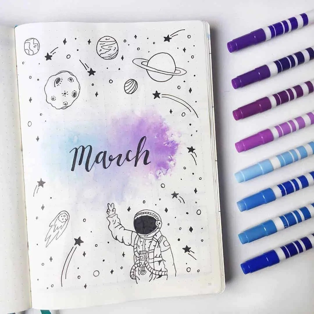 March Bullet Journal Monthly Ideas 17