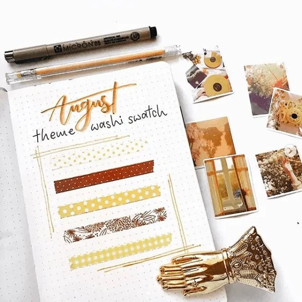 40 Creative Bullet Journal Washi Tape Ideas 49