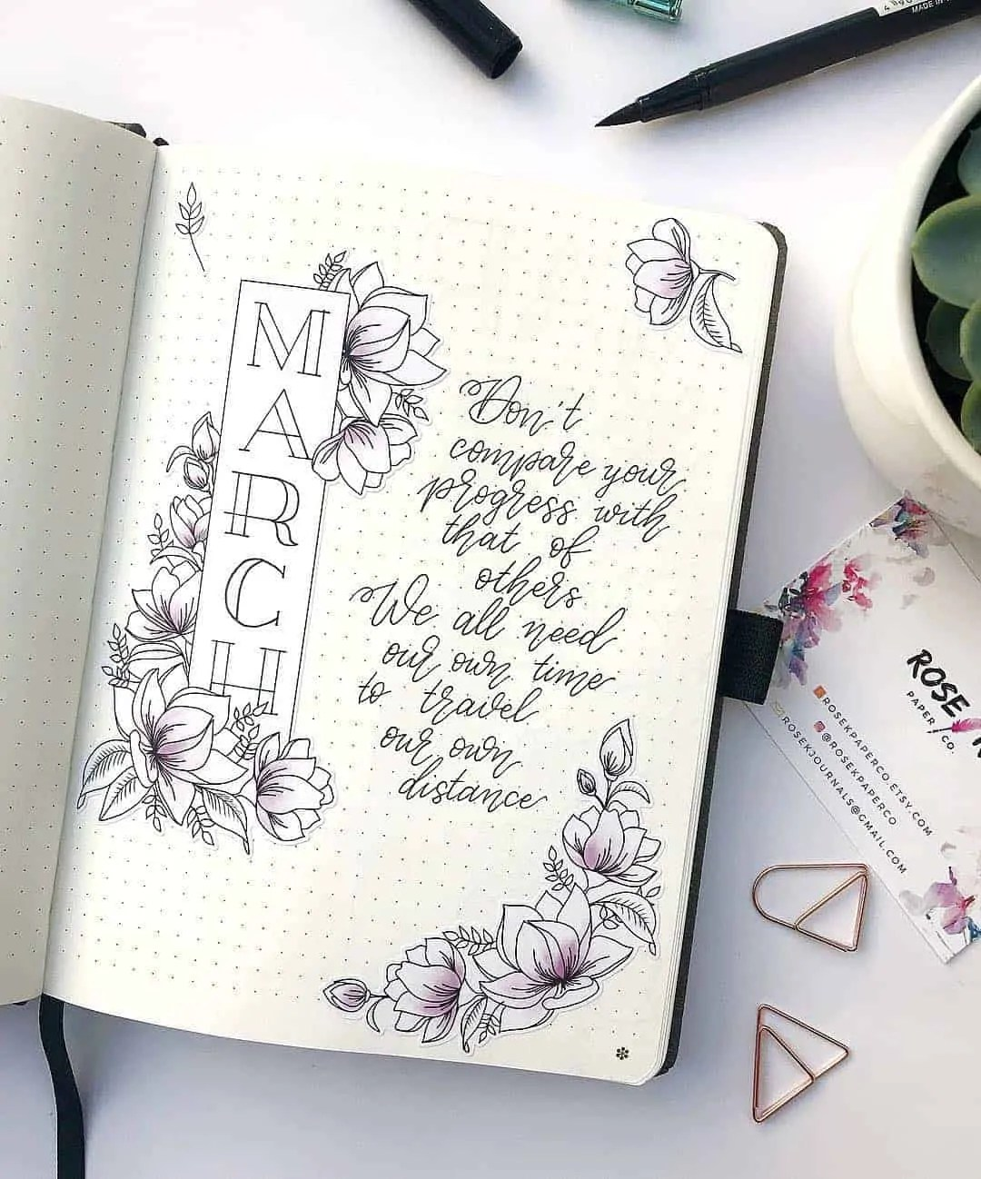 March Bullet Journal Monthly Ideas 37