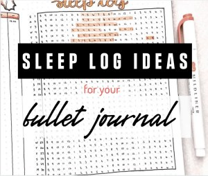 sleep log ideas