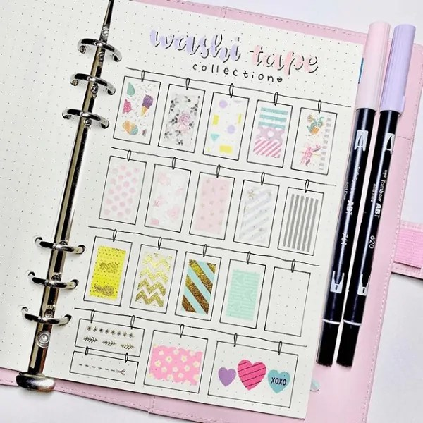 Bullet Journal WashI Tape Ideas