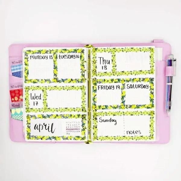 40 Creative Bullet Journal Washi Tape Ideas 35
