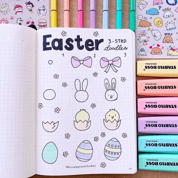 Easter Bullet Journal Ideas