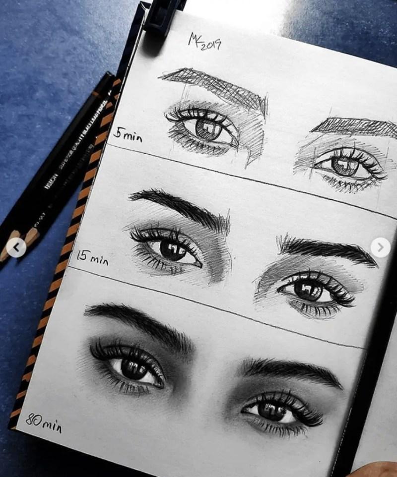 eyes drawing pencil