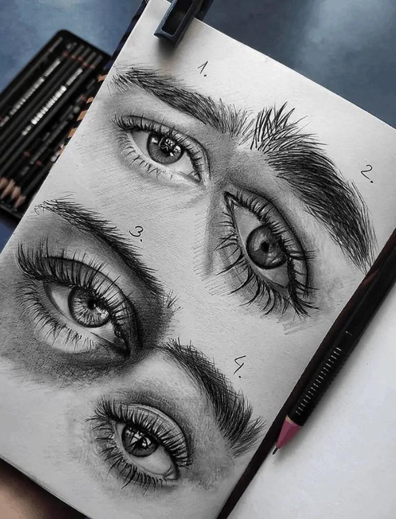eyes pencil drawing