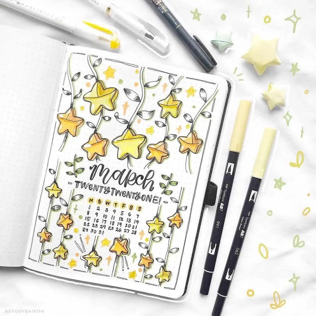 March Bullet Journal Monthly Ideas 49