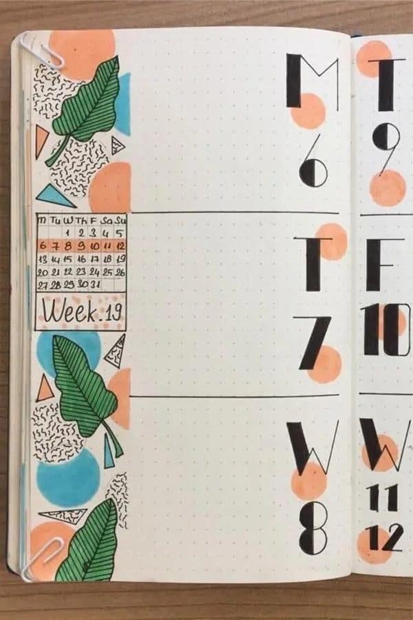 50+ Bullet Journal Weekly Spread Ideas 22