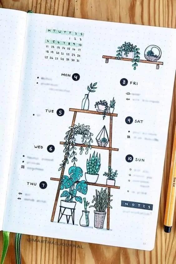 50+ Bullet Journal Weekly Spread Ideas 94